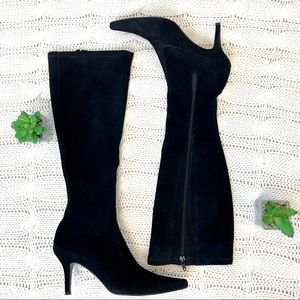 {Stuart Weitzman} Calf Tall Boots Suede Zip Up